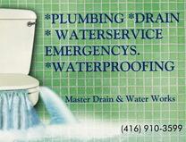 Master Drain & Water Works 416-910-3599 logo