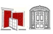 Door and Window Man Logo