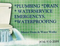 Master Drain & Water Works 416-910-3599 Logo